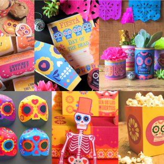 DIY Kit de imprimibles para fiesta del Día de los Muertos