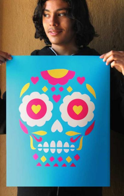 Day of the Dead or El Dia de los Muertos print for home decorations