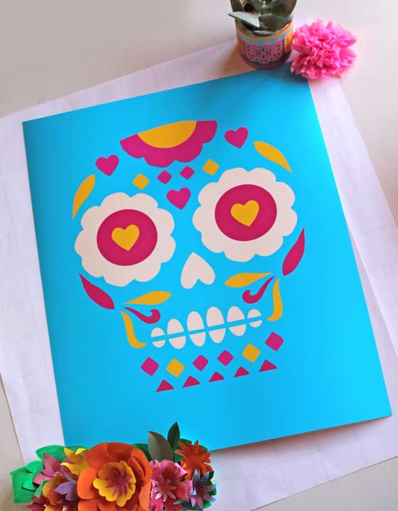 Day of the Dead or El Dia de los Muertos printed on high quality art paper