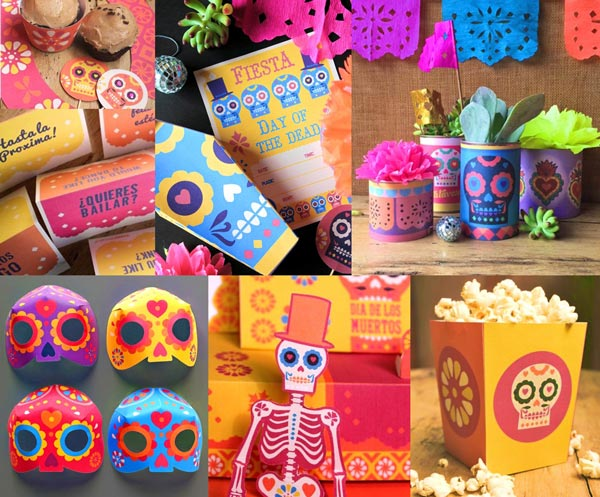Dia de los Muertos, Day of the Dead craft templates: Activities and templates!