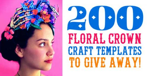 Download your free floral crown templates to make a headpiece for Day of the Dead