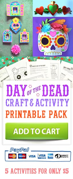 Easy to make crafts, activities, printables and crafts for parties and costumes
