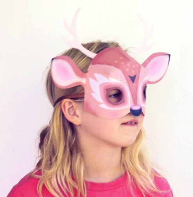DIY homemade deer costume