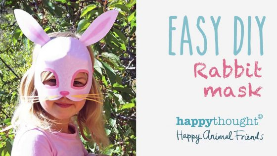 Easy to make bunny or rabbit costume ideas + mask template!