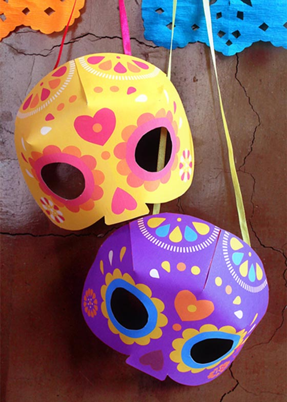 Simple craft ideas for Day of the Dead or Dia de los Muertos printable fiesta kit!