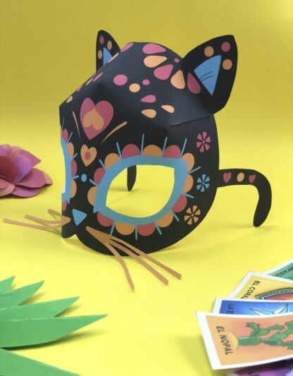 dia de los muertos cat-mask with hooks