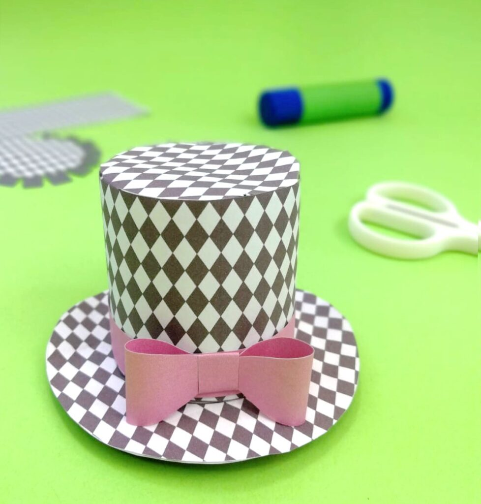 diamond mini top hat templates to print out and make your own party outfit