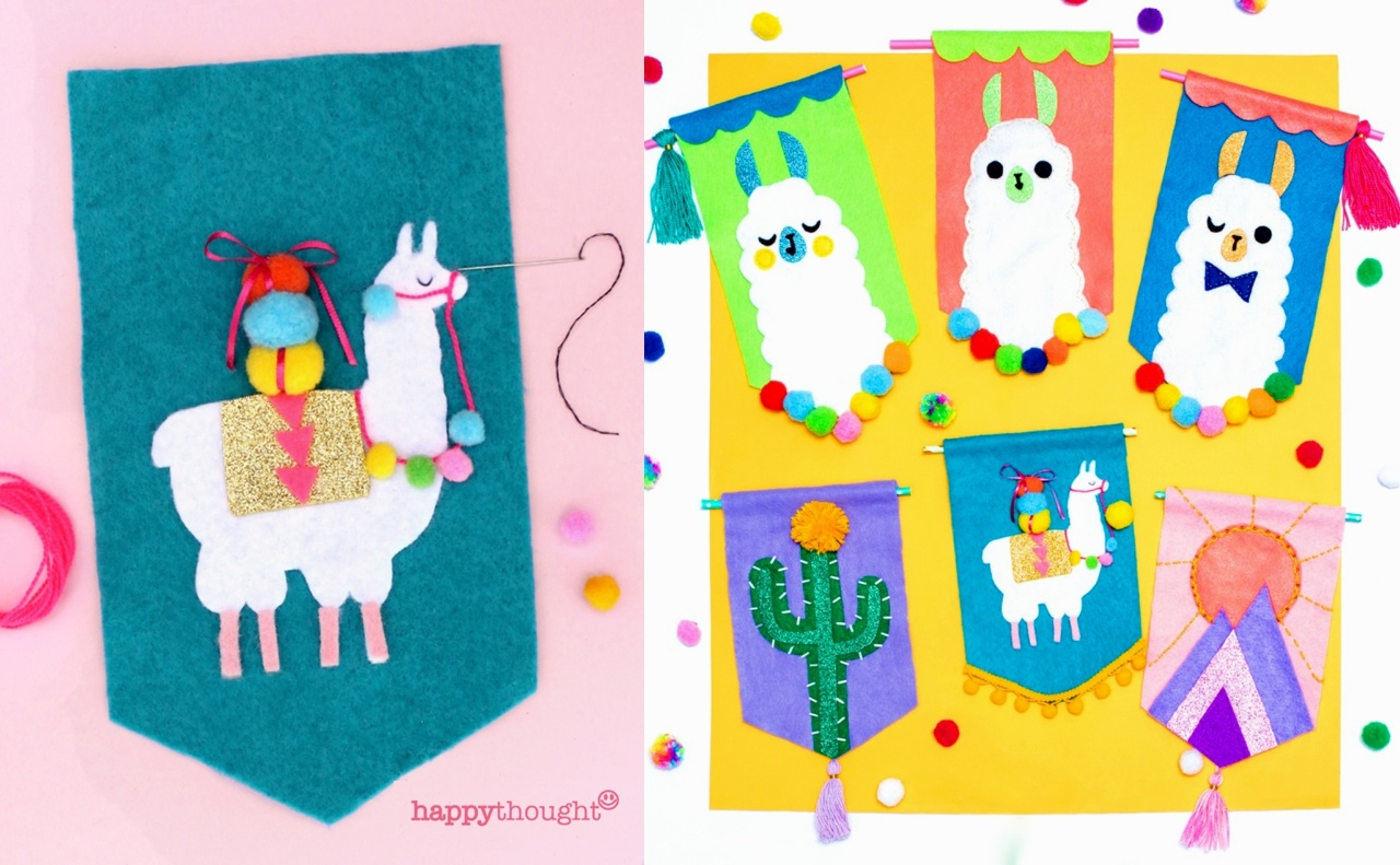 A diy felt llama banner