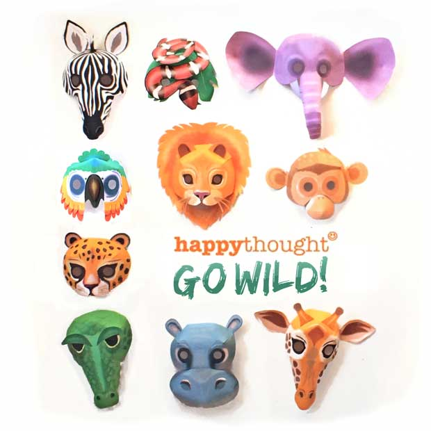 How to make wild animal masks for dress up and activities at home
