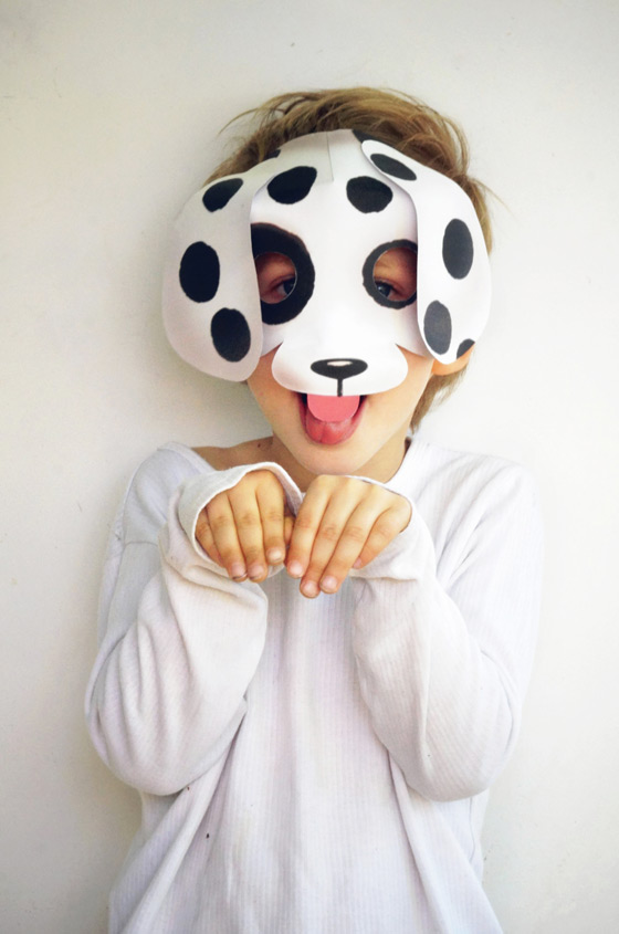 Easy dog mask papercraft pdf: Make your own dog mask!