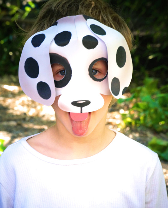 Printable Dog Mask Template Patterns Worksheets Activities