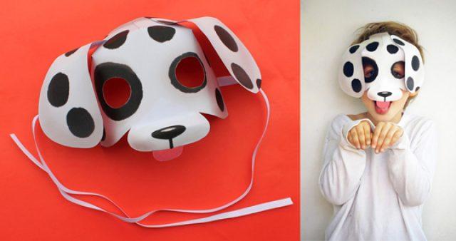 Printable dog mask video tutorial