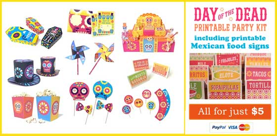 Dia de los Muertos! Day of the Dead Mexican food signs to make for your party!