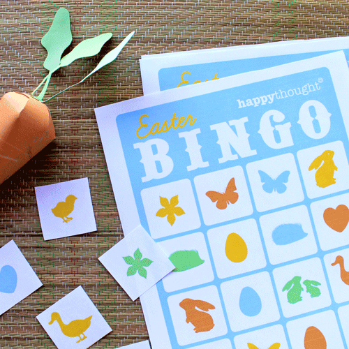 Easter bingo printable craft