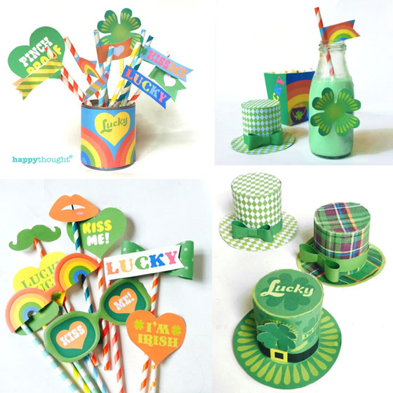 Instant St Patricks Day DIY party celebration templates to buy!