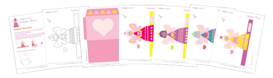 Valentines Day fairies printable