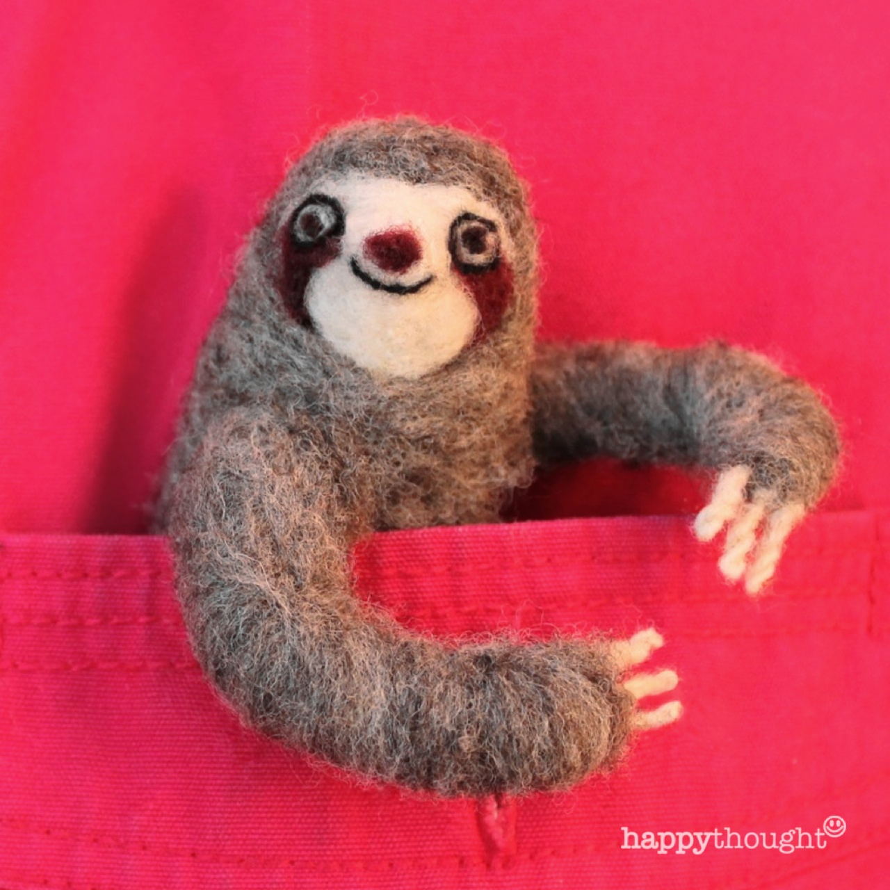 Make this sloth craft needle felt with Happythought DIY step-by-step instructions