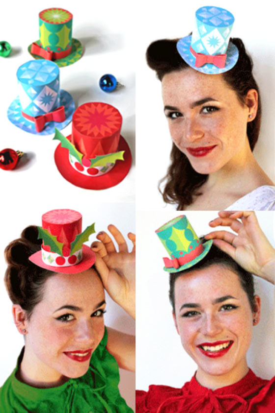 3 easy to make festive xmas mini no-sew top hats!