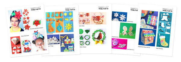 Happythought's holiday festive Christmas craft activity worksheets for class and homeschool.