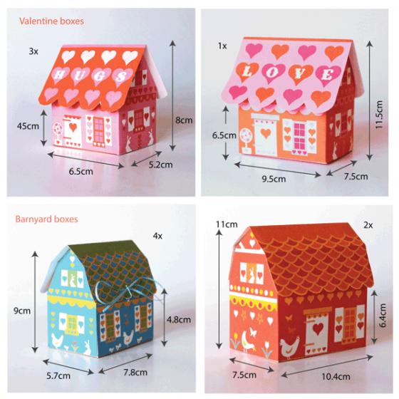 Gift box set ideas - Valentine and Barnyard templates!
