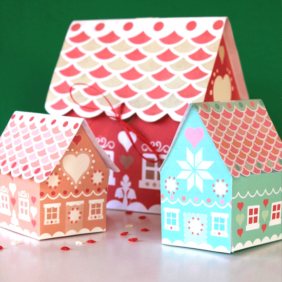 Gingerbread house ideas - 7 Fabulous Gift Box templates!