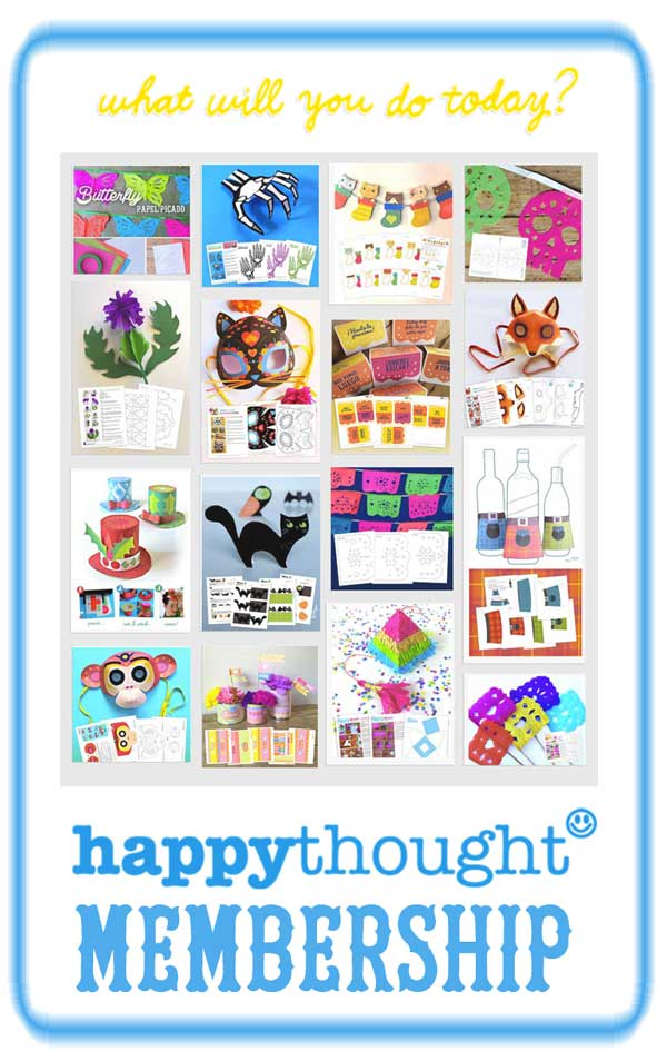 Happythought papercraft activities and printable templates