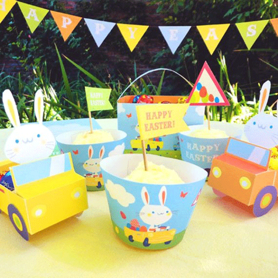 easter holiday printables bunny celebration party kit!