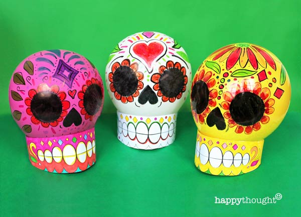How to color in your own balloon calavera skull tutorial and DIY pattern