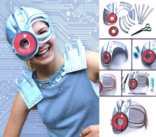 How to make a DIY Cyborg mask and costume for parties