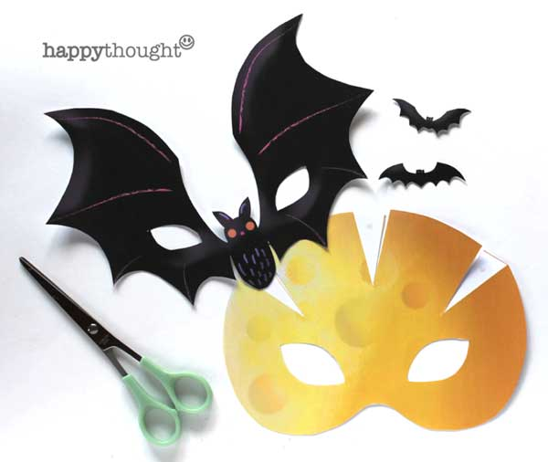 how to make a DIY bat mask for Halloween parties!