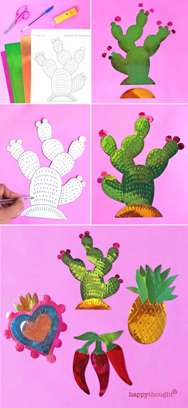 how to make hojalata tin cactus decorations