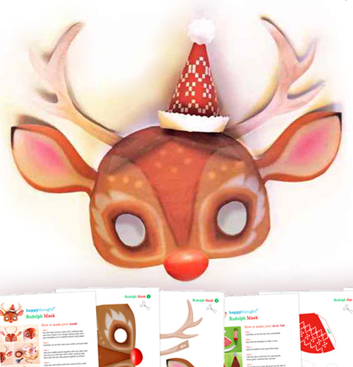 Make a rudolf the reindeer mask