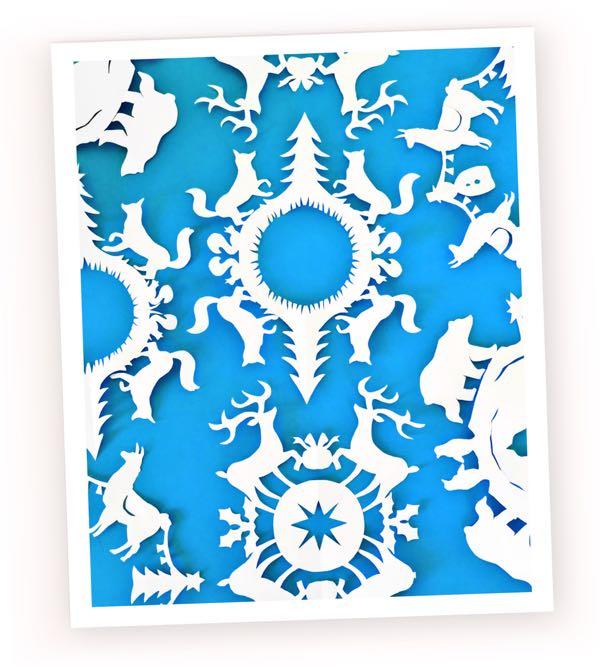 how to make animal-snowflakes for Christmas