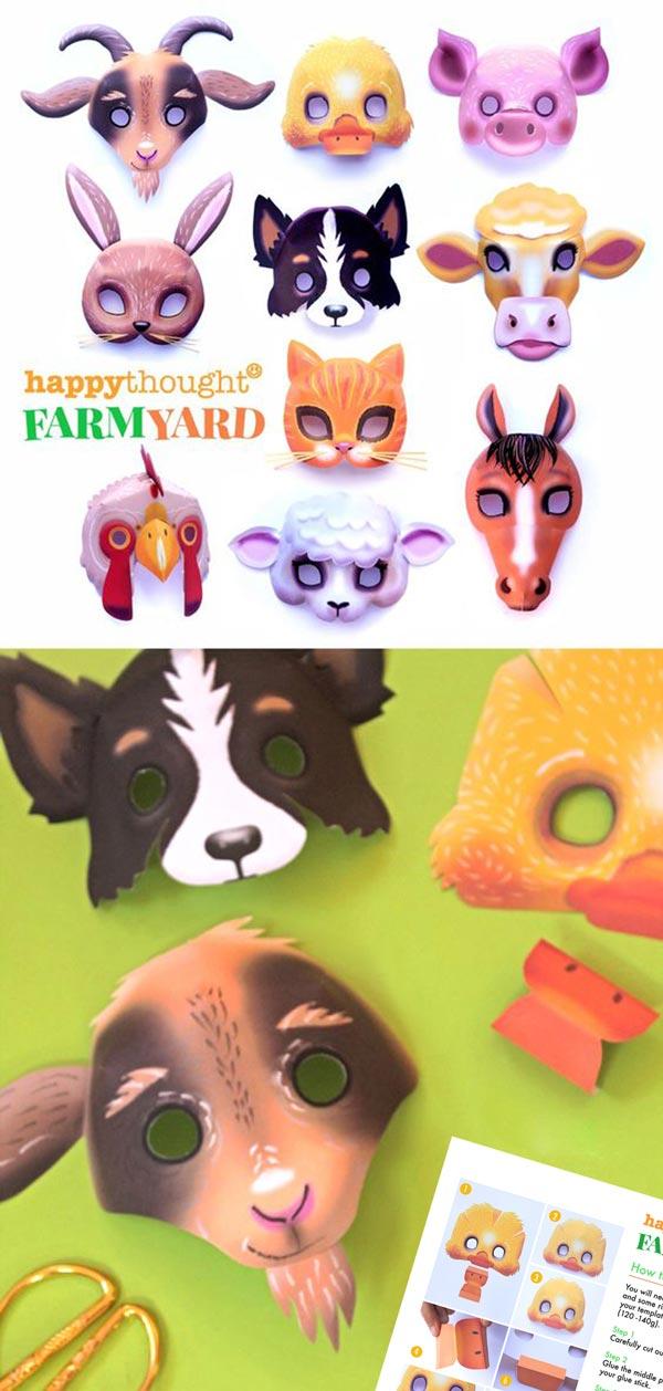 how to make farmyard-animal mask-templates-2020