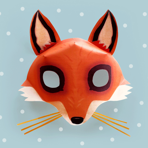 Be a Fox in 5 minutes Try our free easy fox mask template – Free Mask Templates