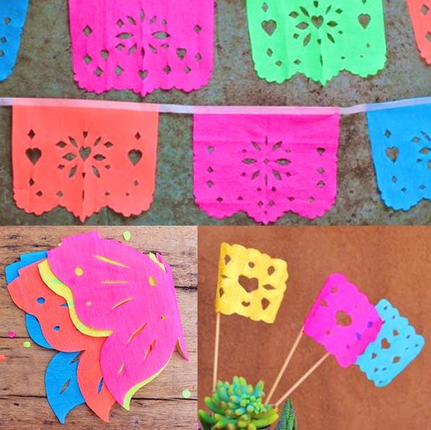 Cómo hacer decoraciones de papel picado: instrucciones y plantillas