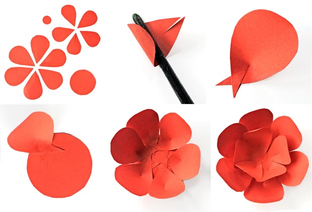 How to make paper flowers and petals instructions and templates