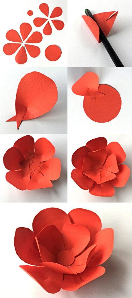 Cómo hacer flores con pétalos de papel para el Cinco de Mayo
