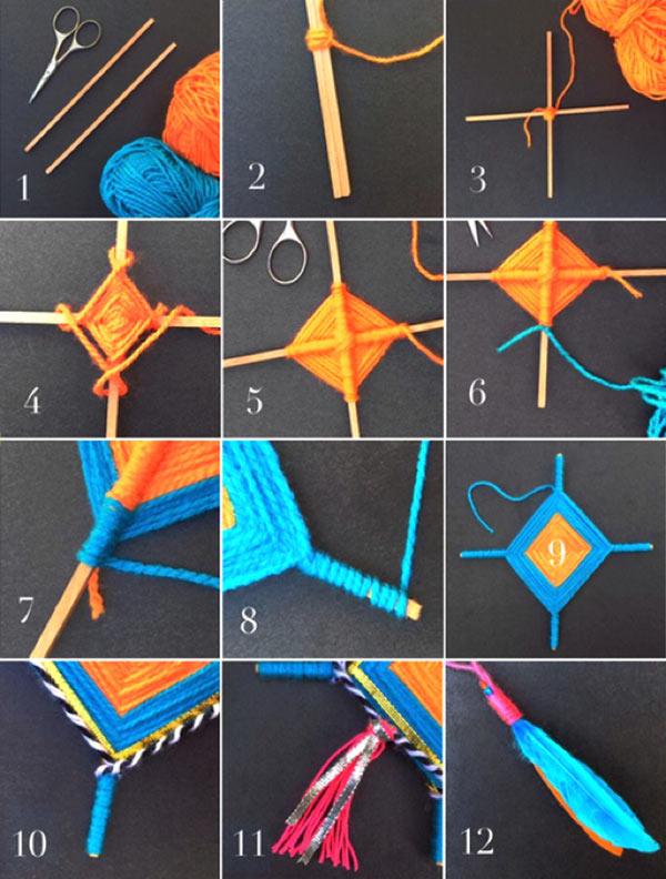 How to make Ojo de Dios, craft activity project