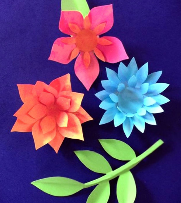 How to make your own DIY flowers for art projects