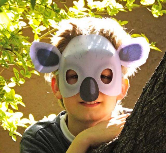 Printable koala mask and costume