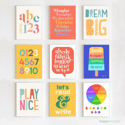 Learning posters and wall art to download and print yourself affordable stylish and homemade decorations