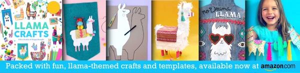 llama craft book by Ellen Deakin ideas templates and tutorials strip