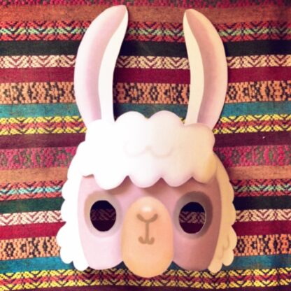 llama mask template craft book featuring projects activities and craft