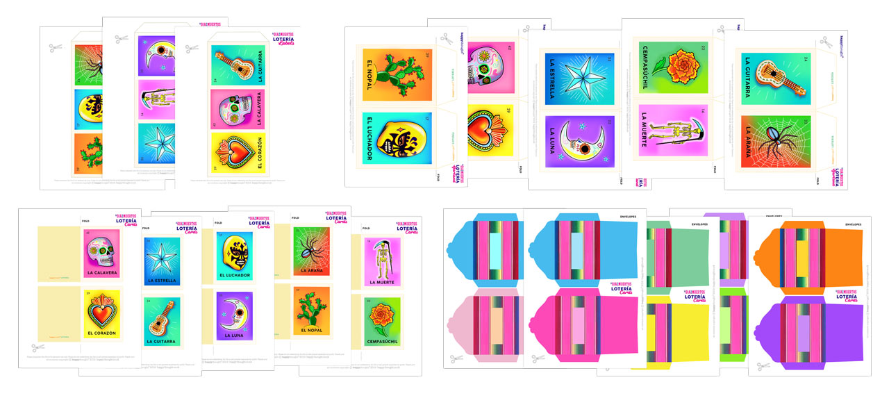 loteria cards day of the dead downloadable PDF sheets