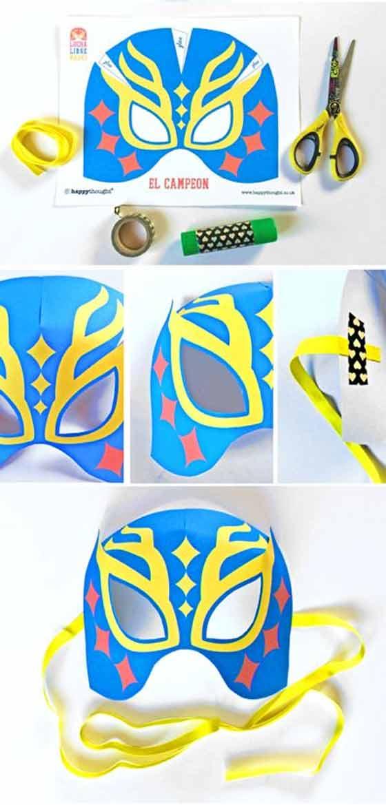 How to make a Lucha Libre mask for Cinco de Mayo + no-sew templates!