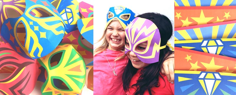 12 printable Lucha libre mask cutouts!