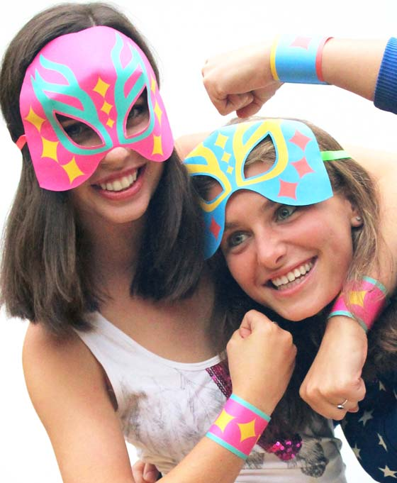 Lucha Libre mask and cuff templates, cutouts and patterns for Cinco de Mayo!