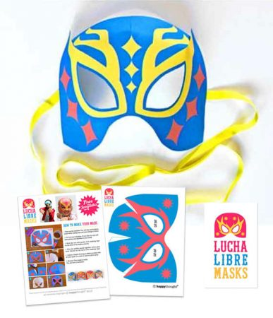 Easy and fun homemade lucha libre mask free template pattern craft activity!