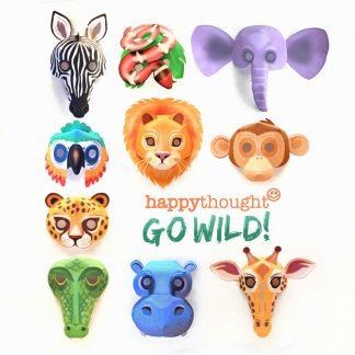 Go WIld - Máscaras imprimibles de animales salvajes
